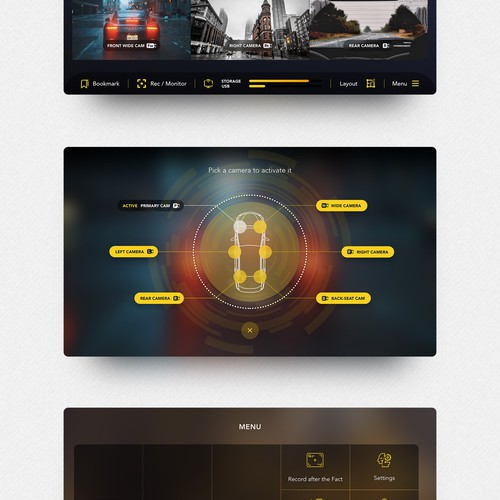 Interface design for Law enforcement camera recordings.