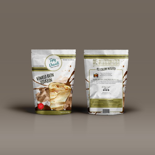 Whisky Ice cream pouch