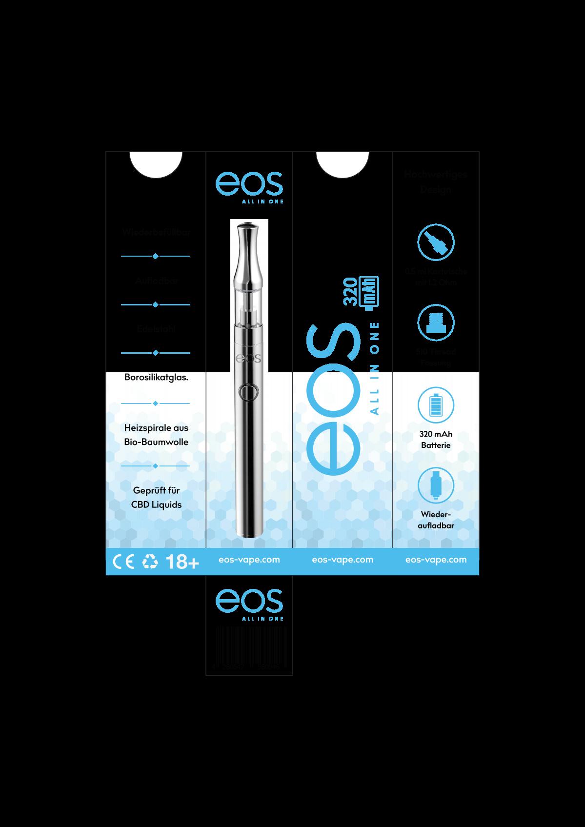 eos Vape pen and cartrdige Packaging