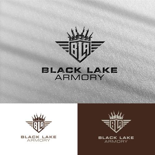 Bold logo concept for Black Lake Armory