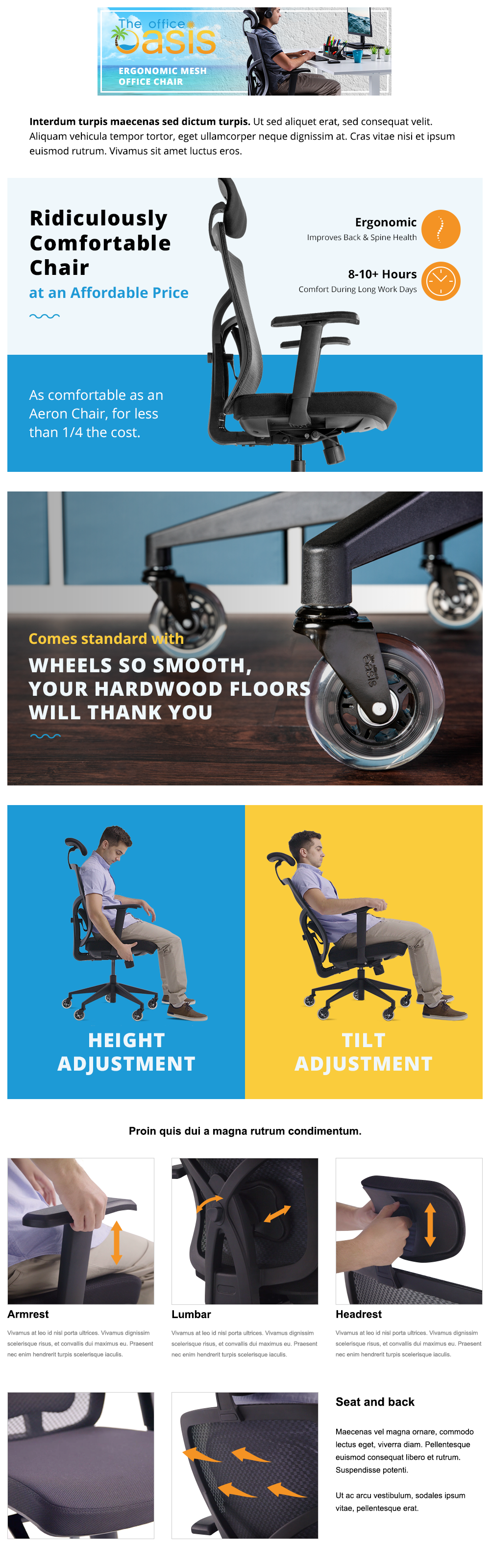 Office Oasis Chair - Images with graphics