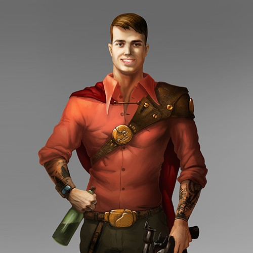 Character design - steampunk hitman