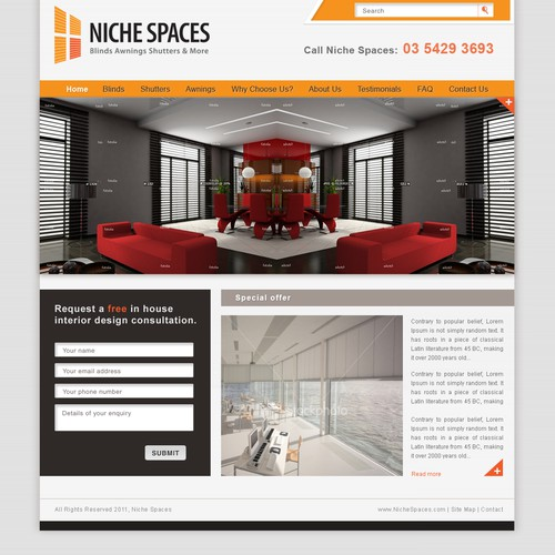 Help Niche Spaces with a new website design