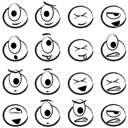 One Eyed Emoji designs