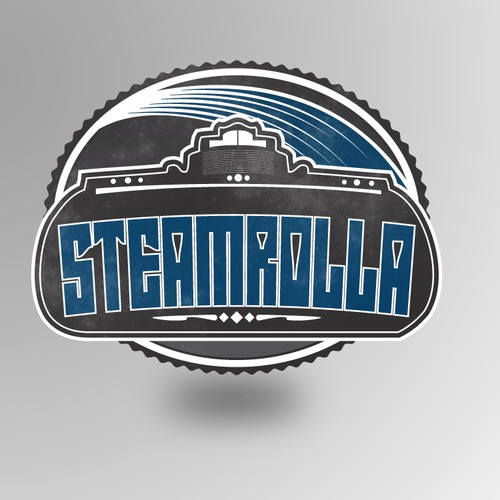 Retro Emblem/Badge Logo for STEAMROLLA