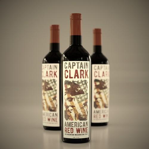 Bold American wine label