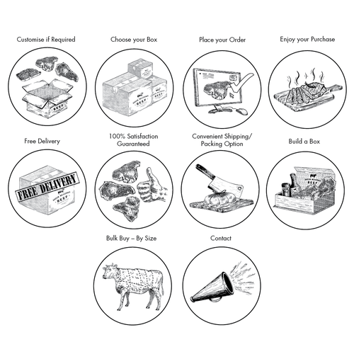 Illustrations for a Beef Production Company