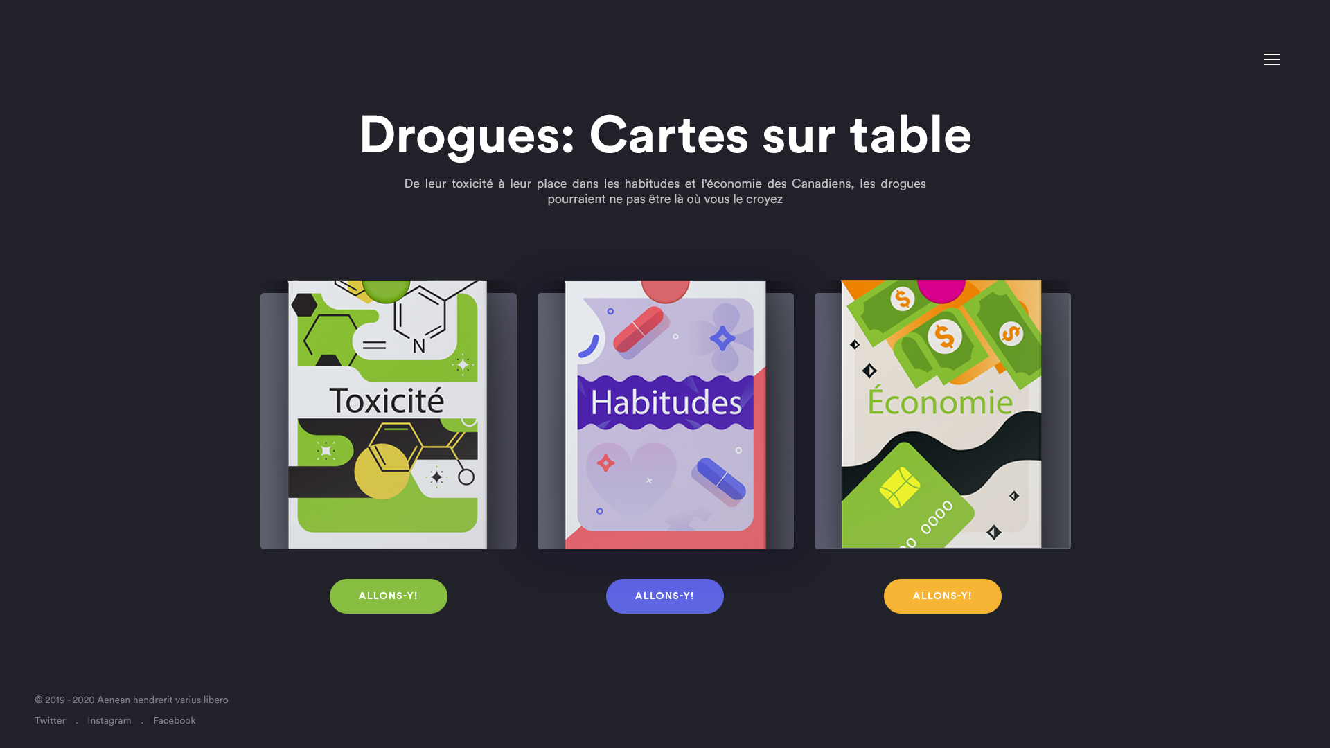Graphics for an interactive website about drugs, which will accompany a documentary