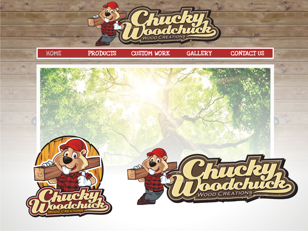 Logo for Chucky Woodchuck Wood Creations