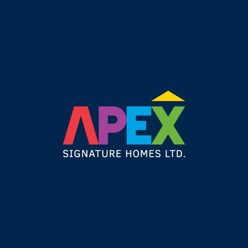 Colorful Logo Concept for Apex Signature Homes Ltd.