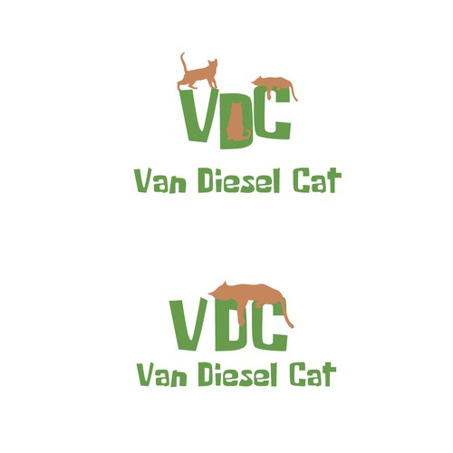 Logo for a cat