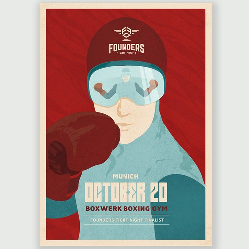 The retro-futuristic boxing poster