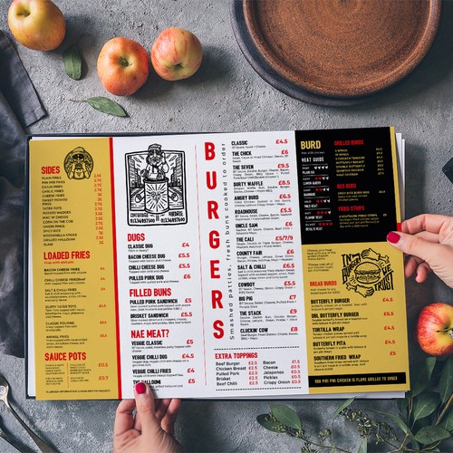 Re-design menu.