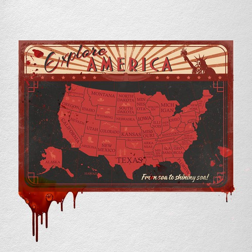 Bloody postcard.