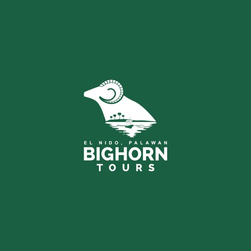 Winning logo concept for Big Horn Tours