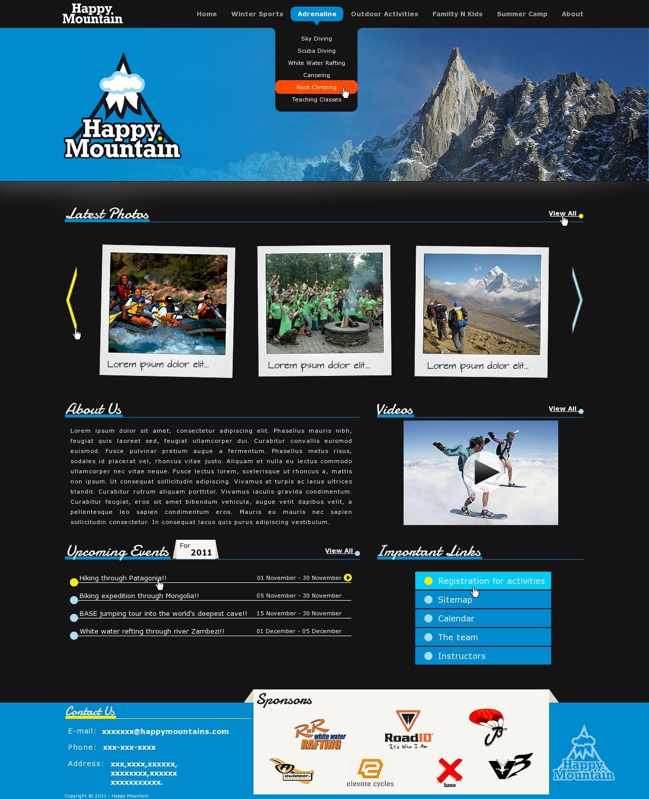 Happy Mountain needs a new website design