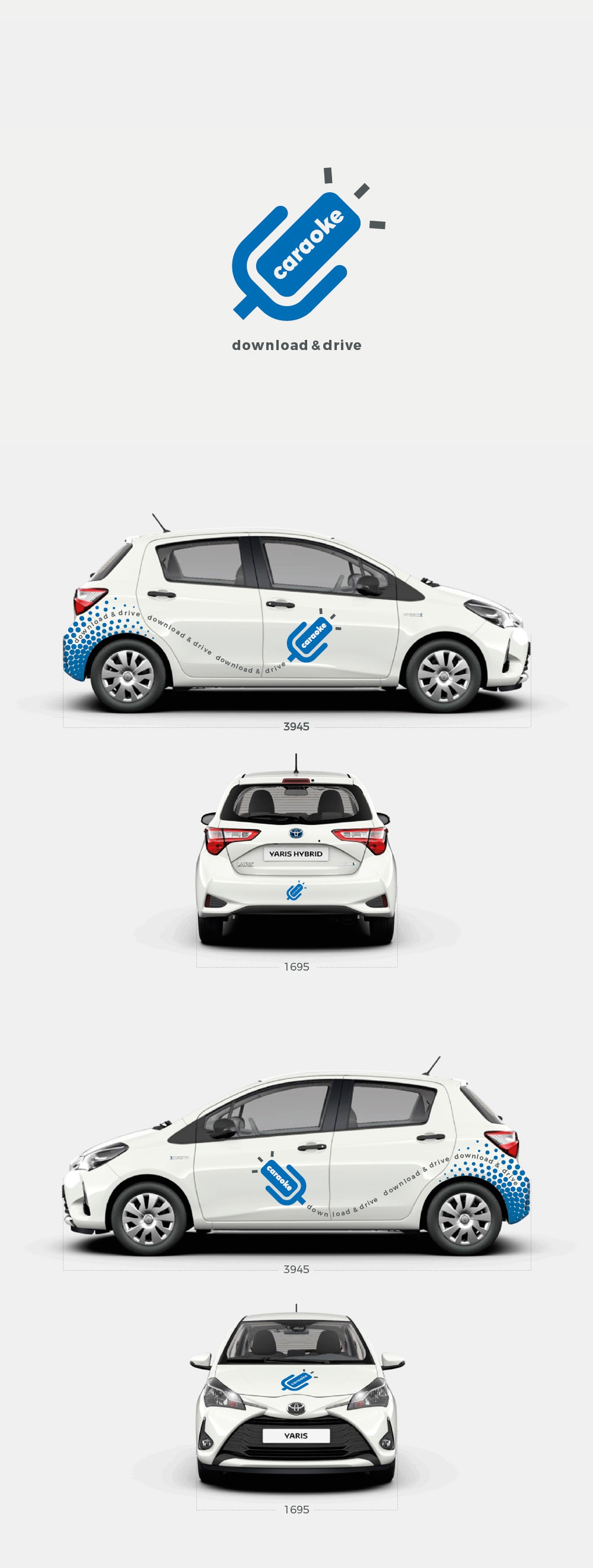 Design the car paint for a large car sharing app.
