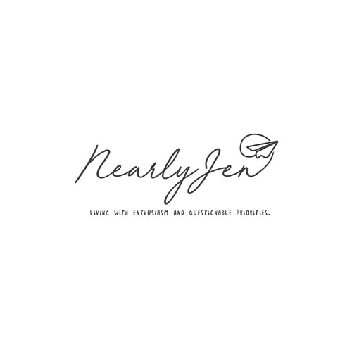 Simple logo concept for NearlyJen Website.