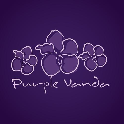 Logo for Florist - Purple Vanda