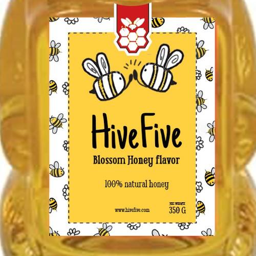 Bear Honey Label