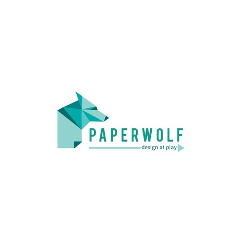Have fun and create a logo illustration for Paperwolf (Paper craft living room trophies)