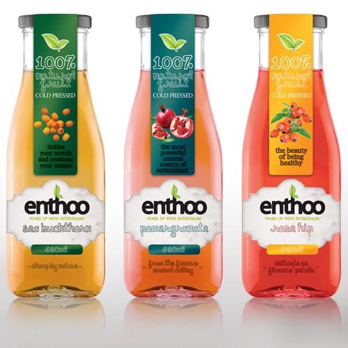 Packaging design for Natural fruit juices