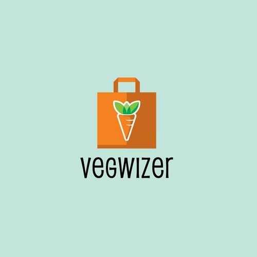 Logo for a Vegan shopping company