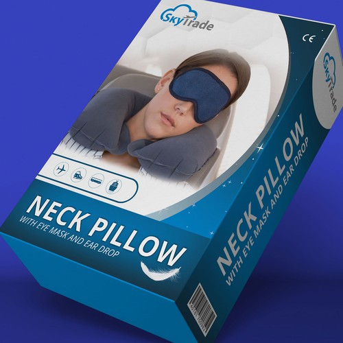 Box design/ neck pillow.