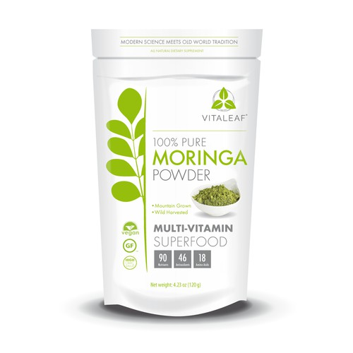 Moringa Powder Label / Bag