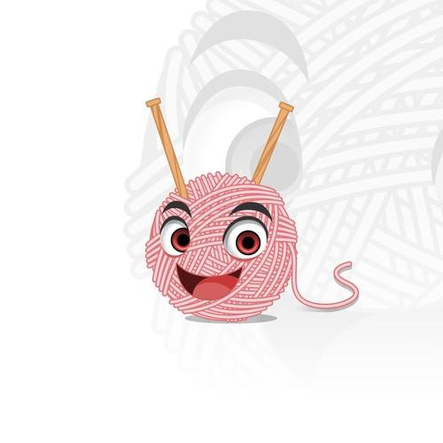 Mascot Design for KnittinGladys