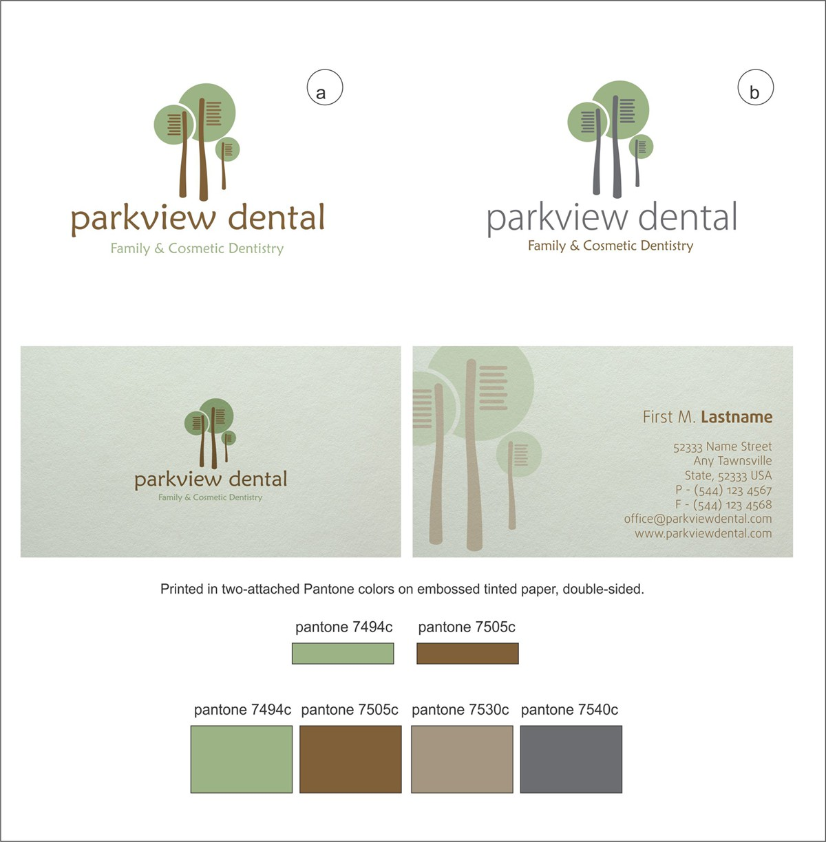 Visual Identity for Spa-like Dental Practice