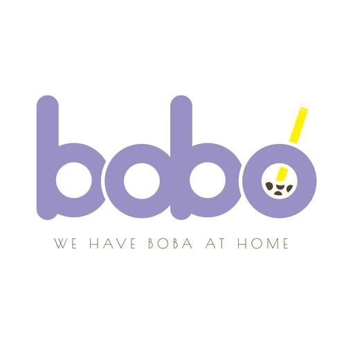 Logo for a boba company