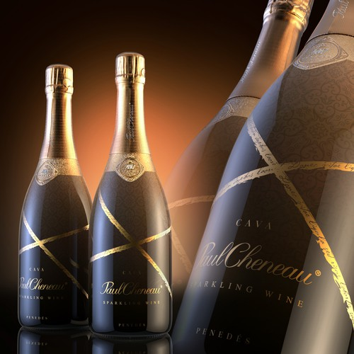 Sparkling Wine Label Design