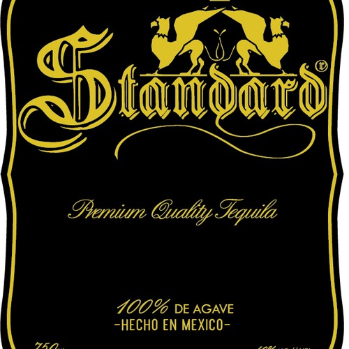 STANDARD TEQUILA needs a new product label