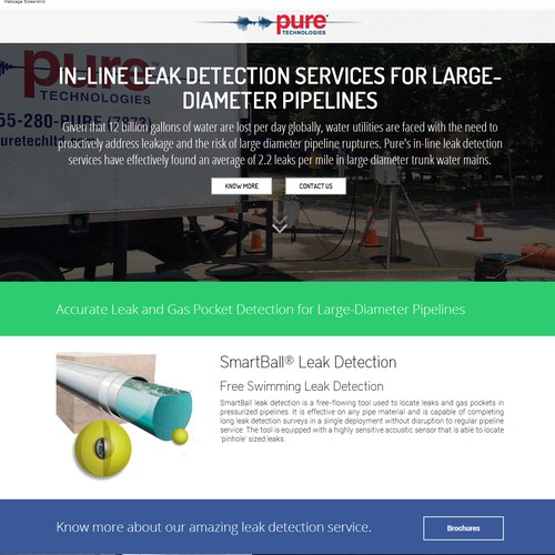 Bold Design for pipeline detection company