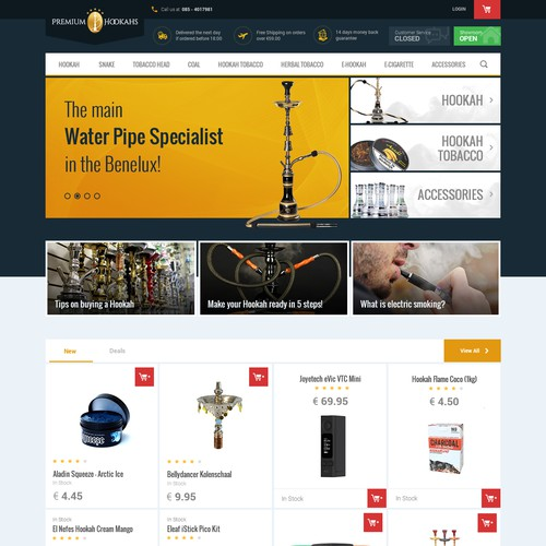 Hookah Website Design for Premium Hookahs