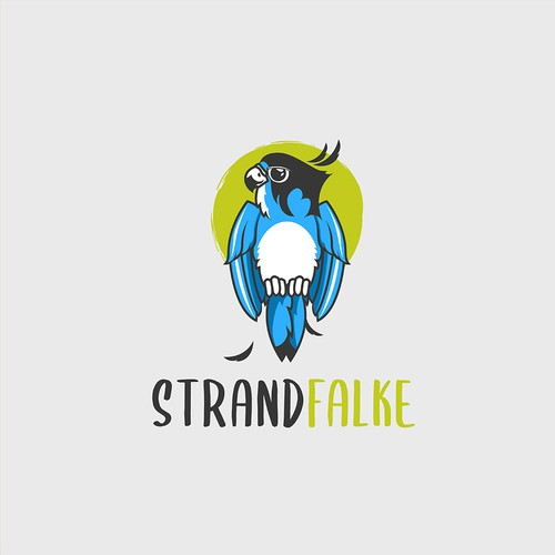 Modern Cute Logo for Strandfalke