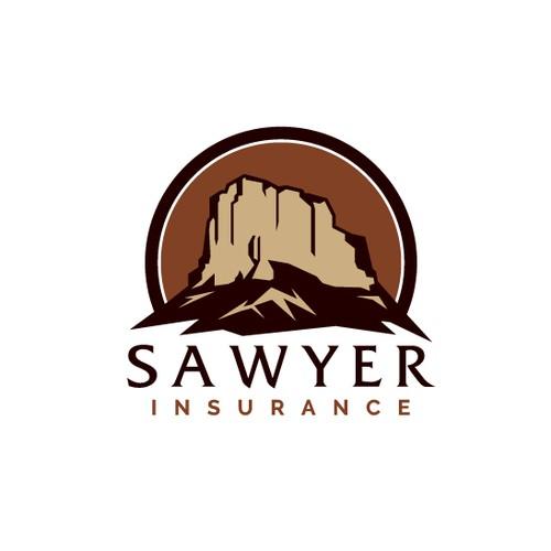 Mountain Logo Design for an Insurance Company