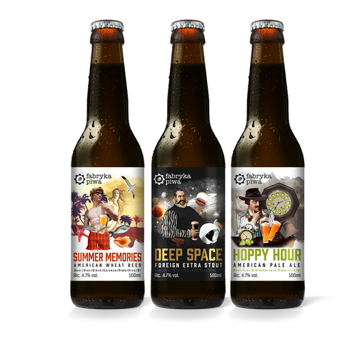 Beer labels for Fabryka Piwa