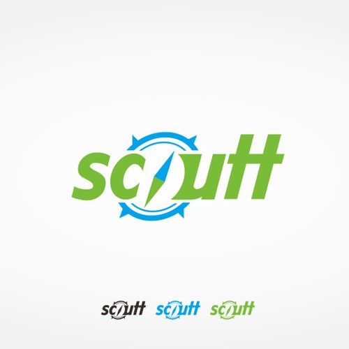 Create a work mark for Scoutt.  A Hipster Travel Site.