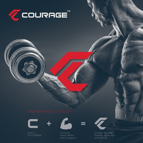 Brand for Courage Nutrition Supplements
