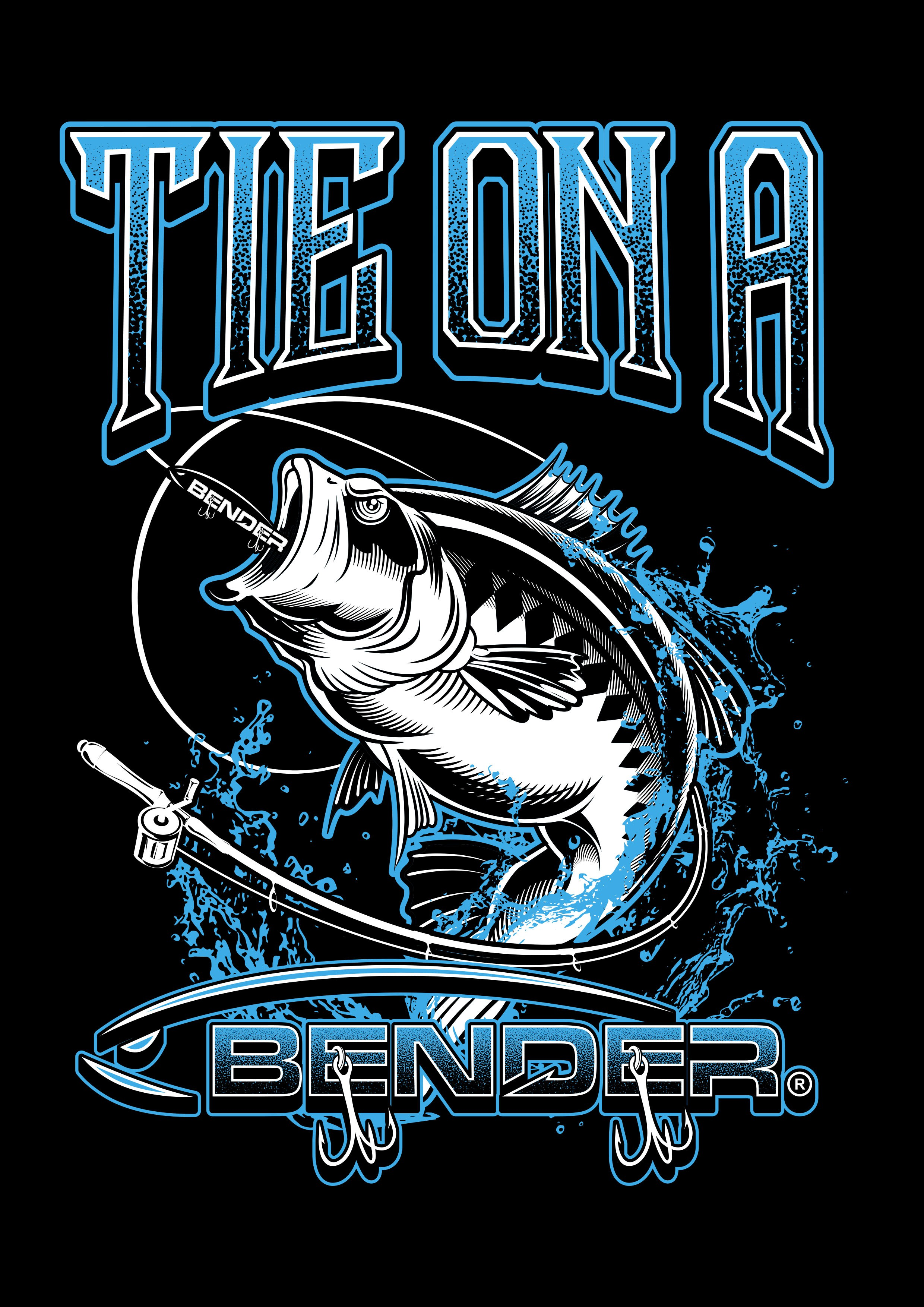 "Design ""Tie on a Bender"" for a new fishing lure called BENDER®"