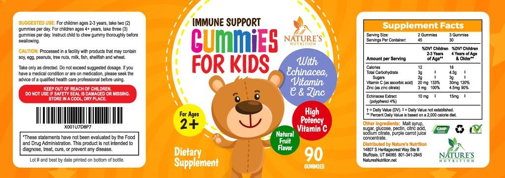 Need Kids Immune Support Gummy Label Design