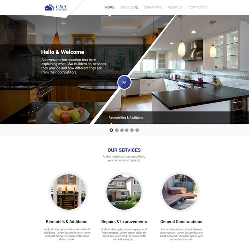 Design for Home Renovation Company (rejected)