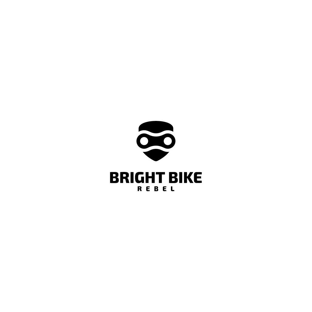 Bright Bike Rebel Logo Design