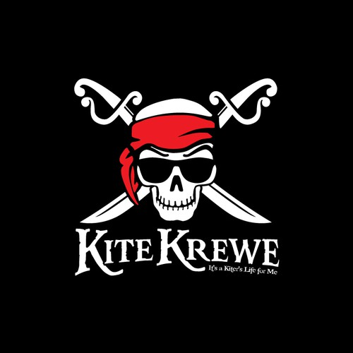 Pirate themed logo for Kite Surfers