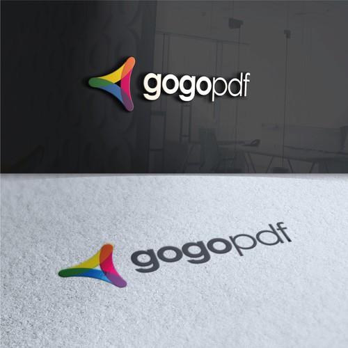 Conceito de logo para gogopdf