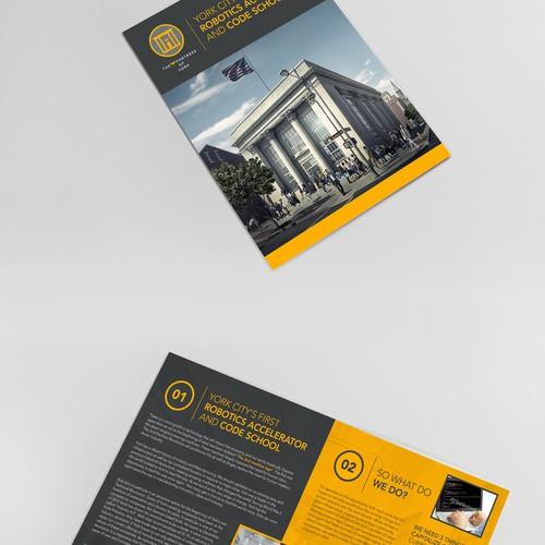 Booklet design for a Robotics School