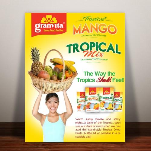 postcard, flyer or print for Granvita