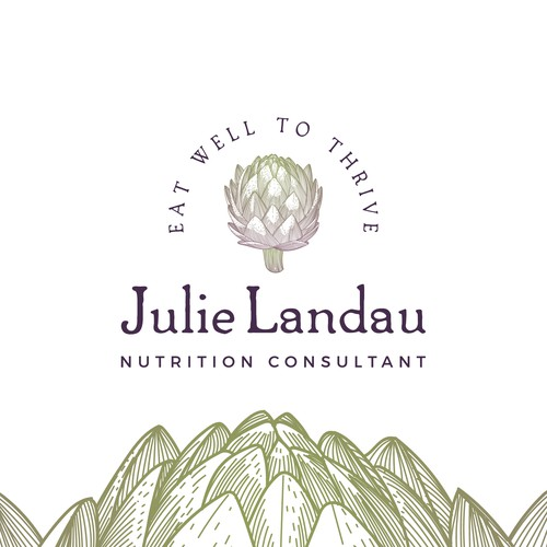 Healthy logo design for Julie Landau